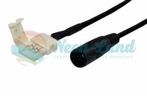 Коннектор питания с джеком для одноцветных светодиодных лент шириной 8 мм Neon-Night