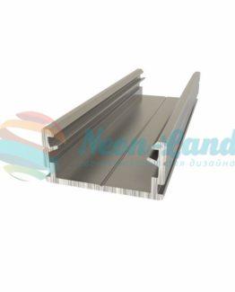 Алюминиевый анодированный профиль накладной/подвесной низкий