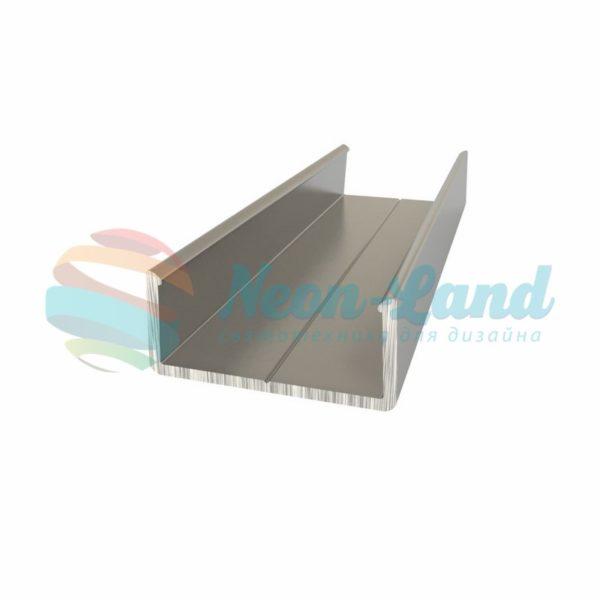 Алюминиевый анодированный профиль накладной(держатель для плоского и круглого профиля)