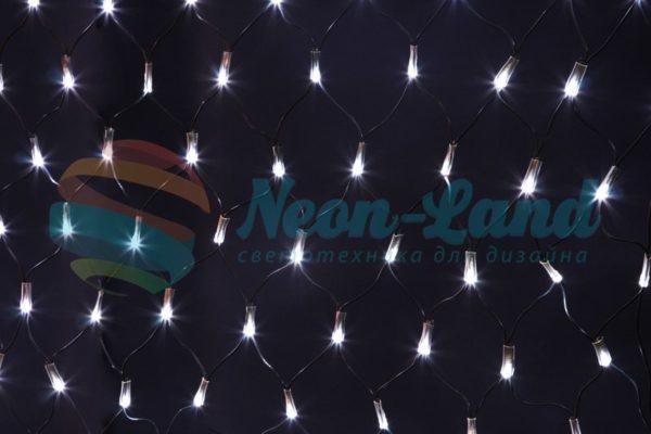 Светодиодная сетка Rich LED черный провод 2*4 м