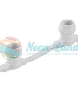 Belt-Light  2 жилы  шаг 40 см  патроны e27 влагостойкая IP54 белый провод