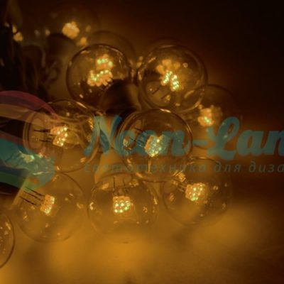 LED Galaxy Bulb String 10м