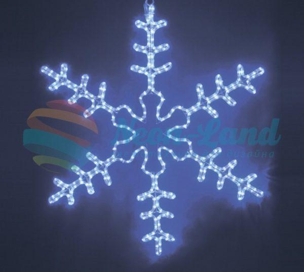 """Фигура световая """"Большая Снежинка"""" цвет синий"""