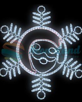 """Фигура """"Снежинка с Дедом Морозом"""" размер 107*95см"""