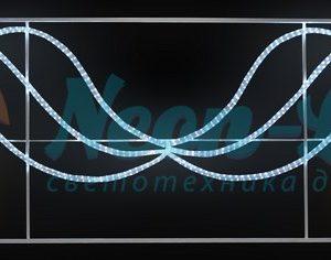 """Фигура световая """"Брызги звезд"""" 360 светодиодов 24м дюралайта"""
