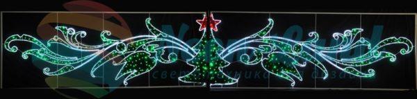 """Фигура световая """"Елка со звездой"""" размер 8х1.5м  NEON-NIGHT"""
