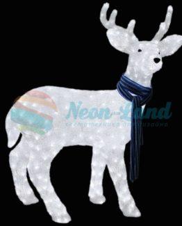 """Акриловая светодиодная фигура """"Северный олень"""" 100х65 см"""