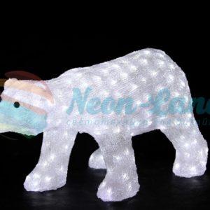 """Акриловая светодиодная фигура """"Белый медведь"""""""