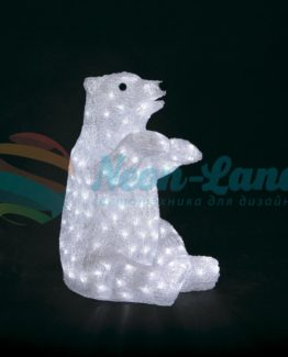"""Акриловая светодиодная фигура """"Белый медведь"""" 36х41х53 см"""
