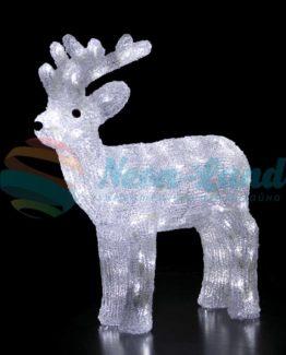 """Акриловая светодиодная фигура """"Северный олень"""" 45 см"""
