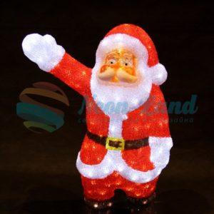 """Акриловая светодиодная фигура """"Санта Клаус приветствует"""" 60 см"""