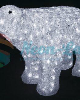 """Акриловая светодиодная фигура """"Белый медведь"""" 80*55 см"""