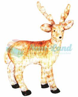"""Акриловая светодиодная фигура """"Бурый олень """" 100 см"""