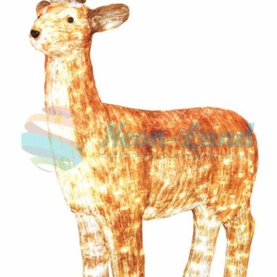 """Акриловая светодиодная фигура """"Бурый олень """" 130 см"""