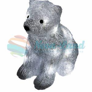 """Акриловая светодиодная фигура """"Медвежонок"""" 17х24х29 см"""