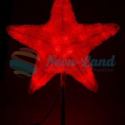 """Акриловая светодиодная фигура """"Звезда"""" 80см"""