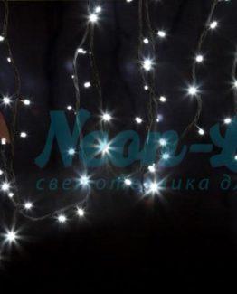 """Гирлянда модульная  """"Дюраплей LED""""  20м  200 LED  черный каучук Белая"""