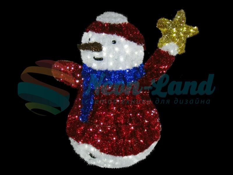 "Фигура ""Снеговик со звездой"""