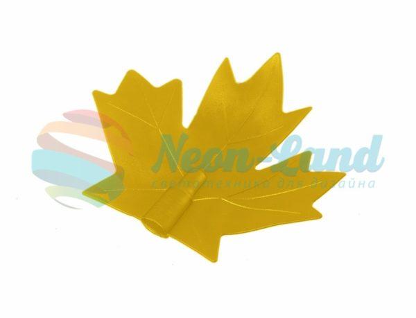 """Колпачок """"кленовый лист"""" (для дюраплей) желтый"""