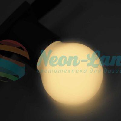 Лампа шар e27 3 LED Ø45мм - тепло-белая