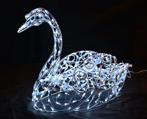 Световая фигура «Лебедь»