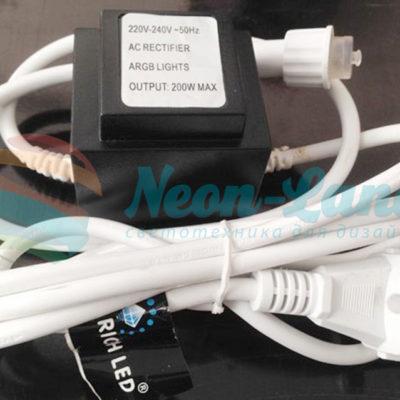 Блок питания для занавесов и бахромы ARGB. Используется для соединения до 6-ти шт.