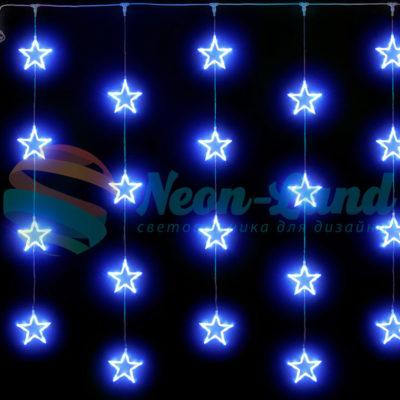 Светодиодный узорный занавес Rich LED Звезды 2х2 м