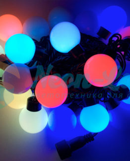 Светодиодная гирлянда Rich LED Шарики RGB 23 мм