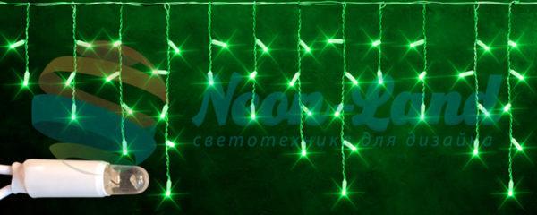 Светодиодная бахрома Rich LED 3х0.5 м белый резиновый провод
