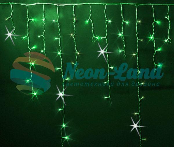Светодиодная бахрома Rich LED 3x0.9 м МЕРЦАЮЩАЯ прозрачный провод