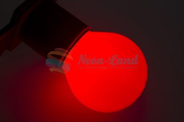 Лампа накаливания e27 10 Вт красная колба