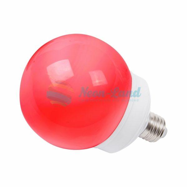 Лампа шар e27 12 LED  Ø100мм красная