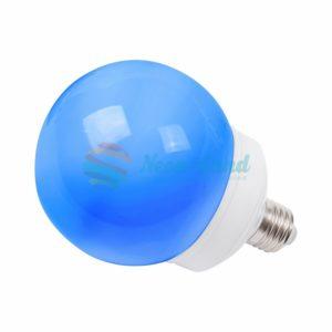 Лампа шар e27 12 LED  Ø100мм синяя