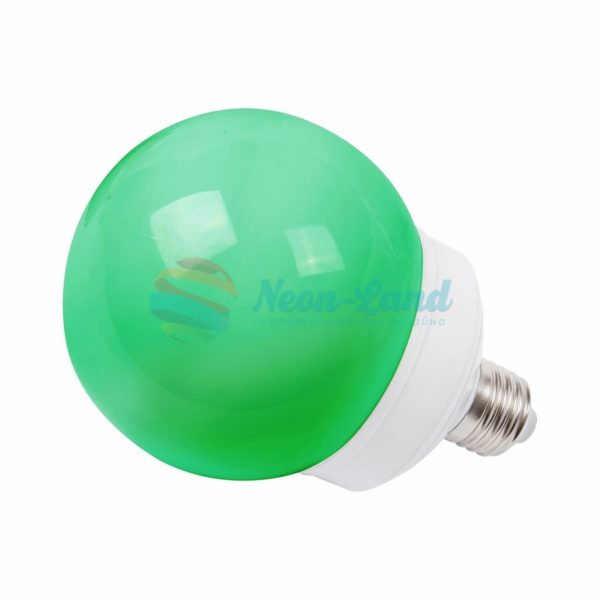 Лампа шар e27 12 LED  Ø100мм зеленая