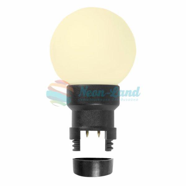 Лампа шар 6 LED вместе с патроном для белт-лайта