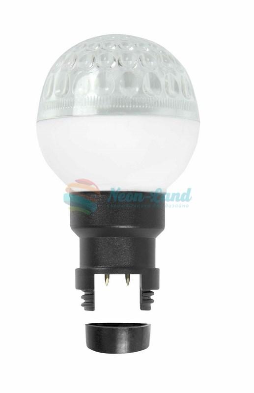 LED Лампа строб вместе с патроном для белт-лайта Ø50мм белая