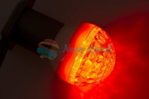 Лампа шар e27 9 LED  Ø50мм красная