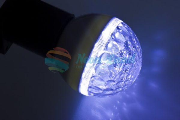 Лампа шар e27 9 LED  Ø50мм синяя
