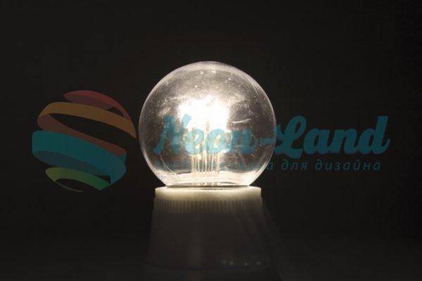 Лампа шар e27 6 LED  Ø45мм - белая