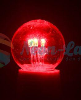 Лампа шар e27 6 LED  Ø45мм - красная