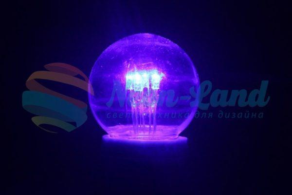 Лампа шар e27 6 LED  Ø45мм - синяя