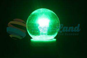 Лампа шар e27 6 LED  Ø45мм - зеленая