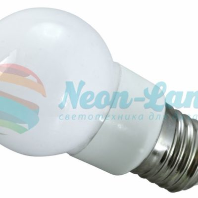 Лампа шар e27 9 LED  Ø50мм RGB