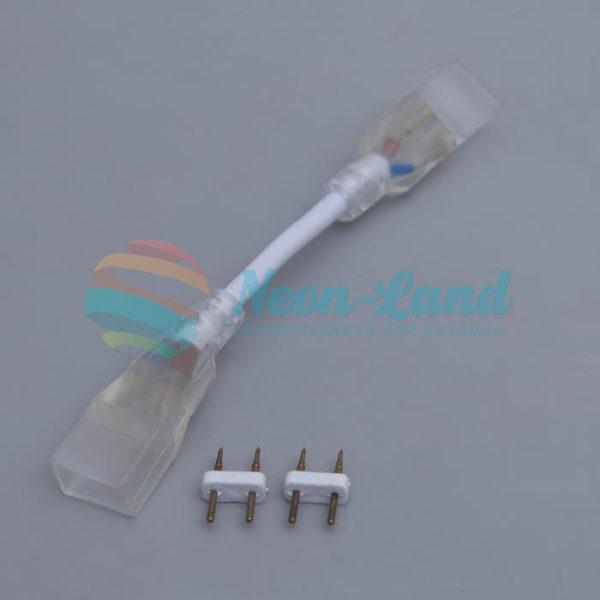 Коннектор для неона 8 х 16/18 мм