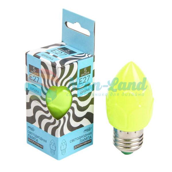 Лампа светодиодная декоративная LuazON «Шишка»
