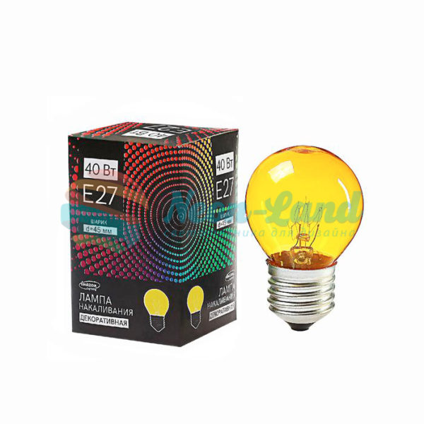 Лампа накаливания Luazon Lighthing E27