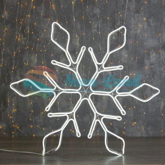 """Фигура неоновая """"Снежинка"""" 67х67 см"""