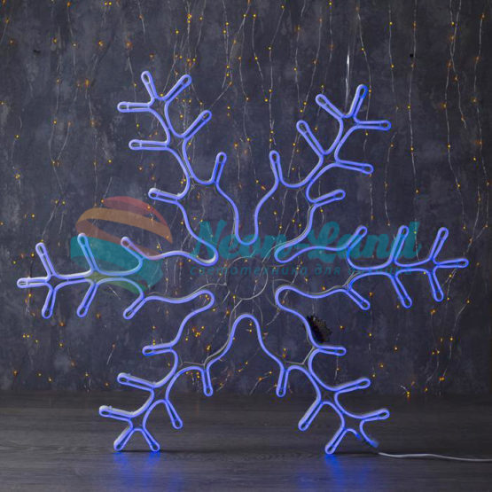 """Фигура неоновая """"Снежинка"""" 85х85 см"""