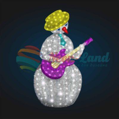 Светодиодный Снеговик Гитарист2