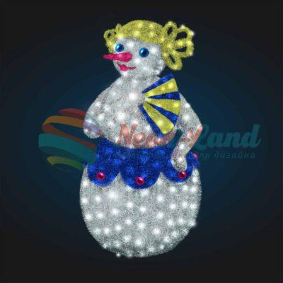 Светодиодный Снеговик Дама 2